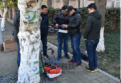 TRU树木雷达、PICUS 3弹性波树木断层画像诊断仪在昆山市绿化委员会顺利验收